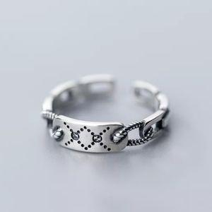 NEW S925 Minimalist Twist Chain & Bar Ring